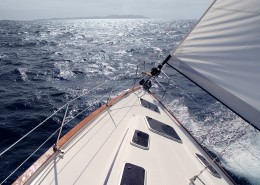 Sailing toward sun